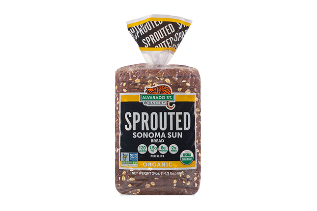 Sprouted Wheat Sonoma Sun Bread - USDA Organic