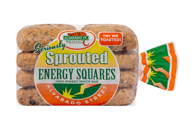 Sprouted Wheat Energy Squares