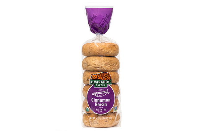 Sprouted Wheat Cinnamon Raisin Bagels