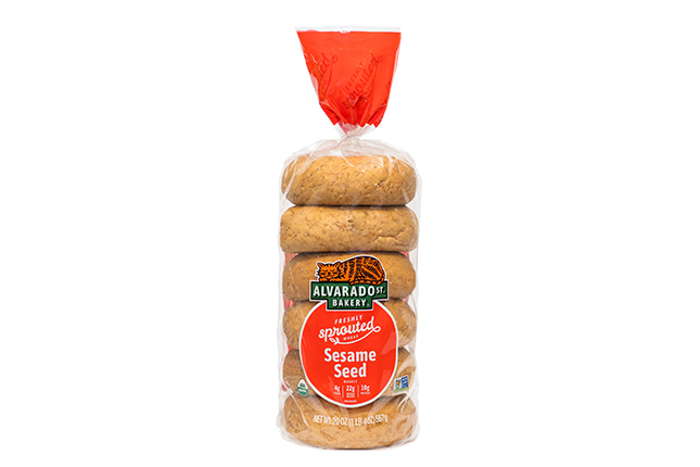 Sprouted Wheat Sesame Seed Bagels