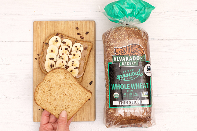 Thin-Sliced Sprouted Whole Wheat Bread