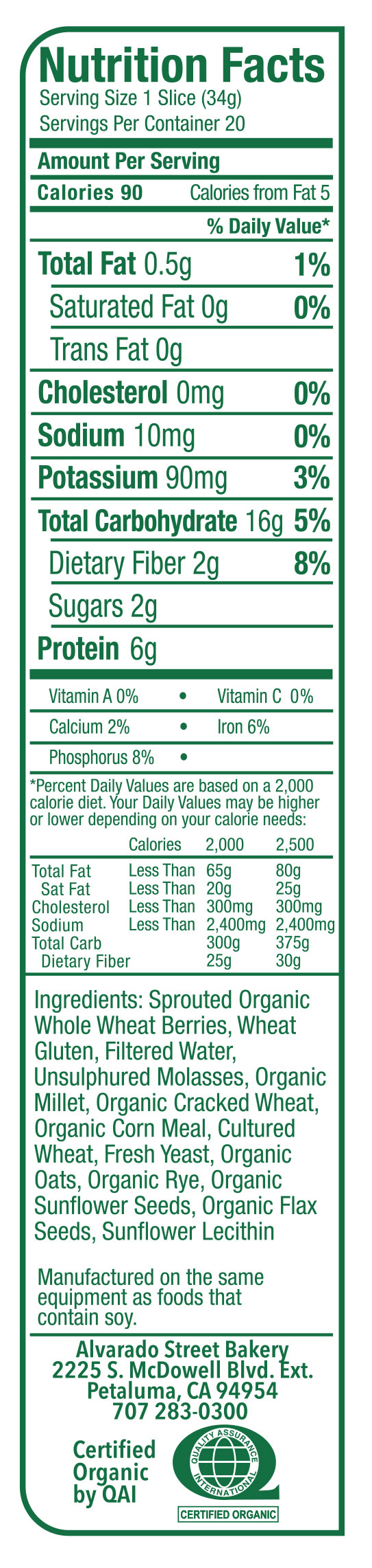 recipe: wheat berry nutritional information [22]
